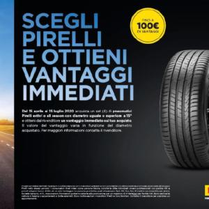 Promo pneumatici Pirelli primavera estate 2020